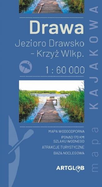 Mapa kajakowa rzeki Drawa